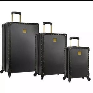 Vince Camuto Jania Black 3pc Luggage Spinner Wheel
